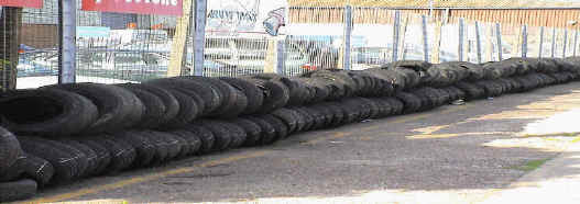 Tyres ready for disposal